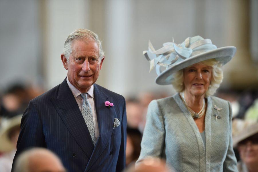 Le prince Charles et la duchesse de Cornouailles Camilla à Londres, le 10 juin 2016