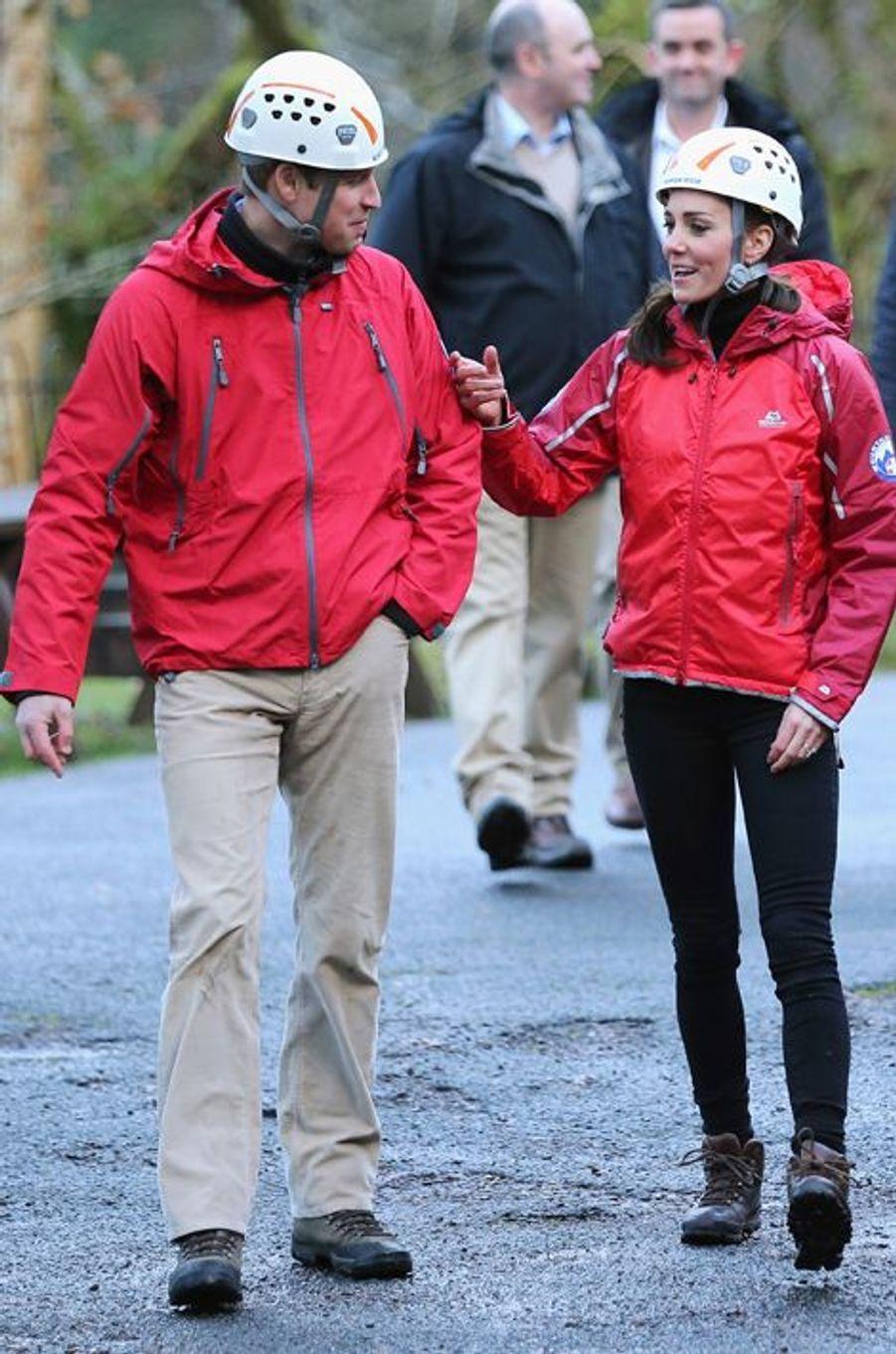 Le prince William et la duchesse de Cambridge Kate à Capel Curig en Galles du Nord, le 20 novembre 2015