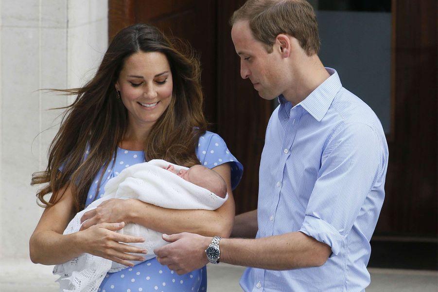 Juillet 2013, à la sortie de la maternité