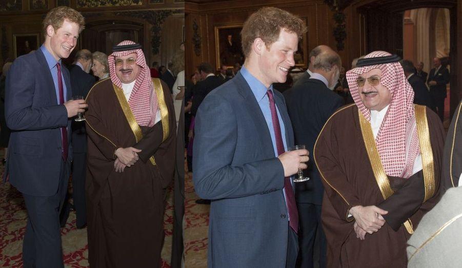 Harry et le prince Mohammed bin Nawwaf, ambassadeur d'Arabie Saoudite