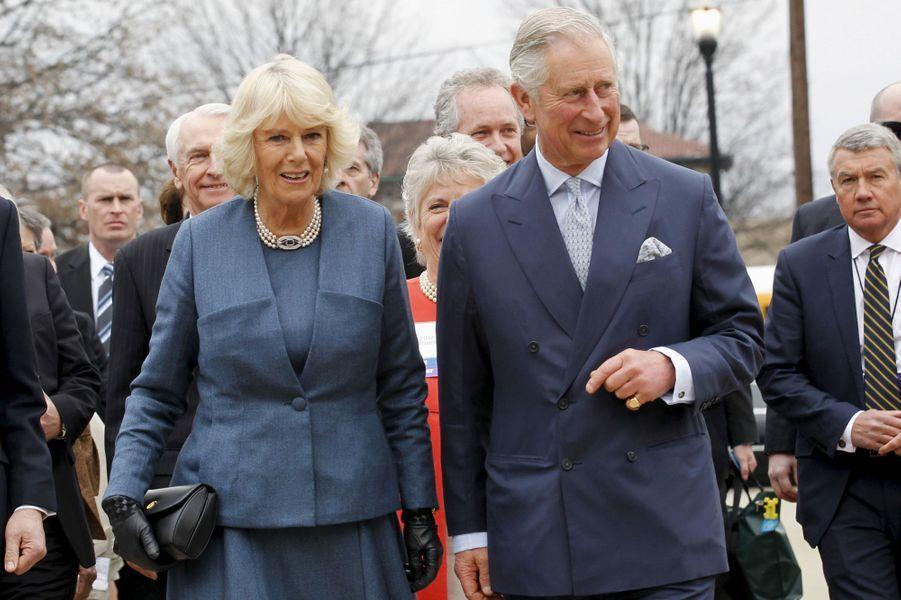 Le prince Charles et Camilla Parker-Bowles à Louisville, le 20 mars 2015