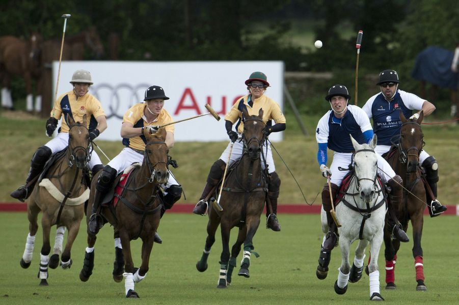 William et Harry s'affrontent au polo