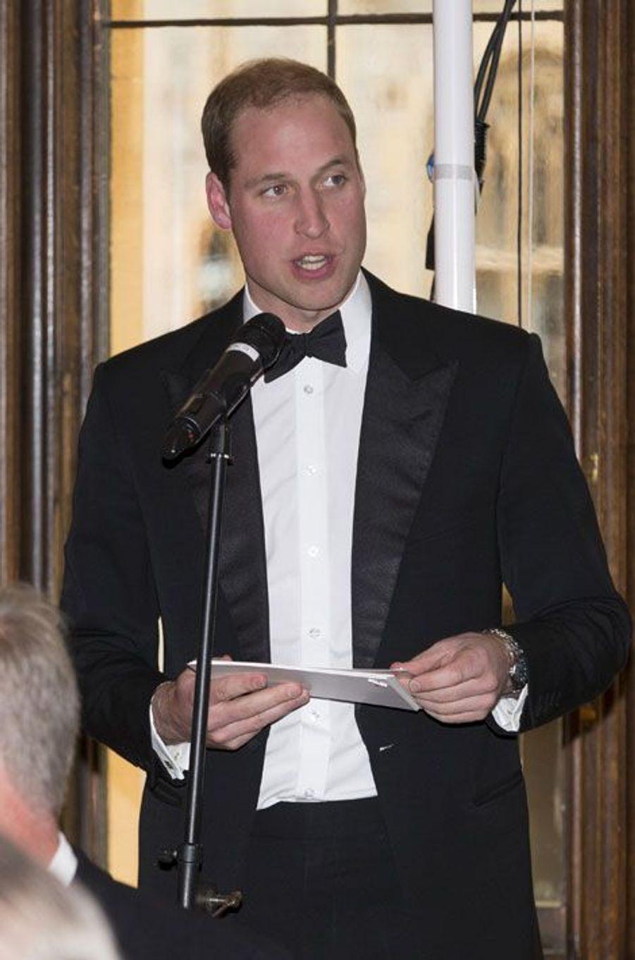 William, hôte d'honneur d'une soirée glamour