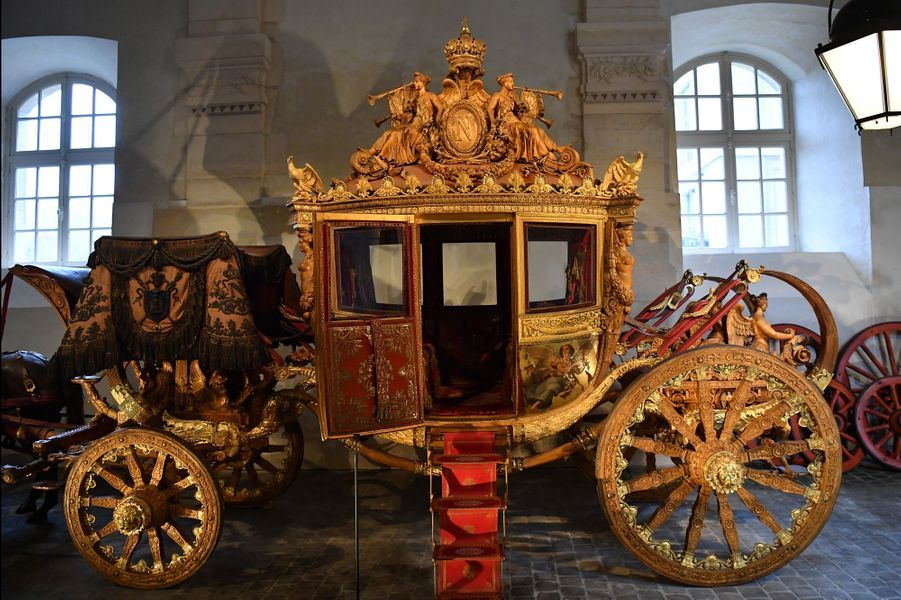 Le carrosse du sacre de Charles X conservé à Versailles