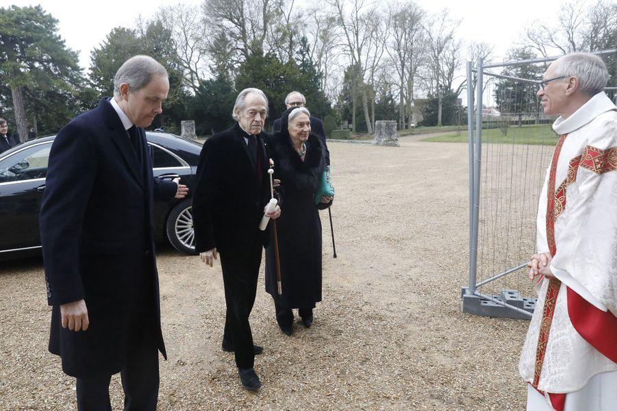Le comte de Paris et la comtesse de Paris avec le prince Jean, à Dreux le 6 janvier 2018