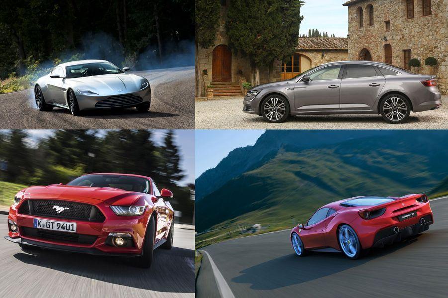 Quels points communs entre l'Aston Martin de James Bond et la Citroën E Mehari? Pas grand chose, a priori, et pourtant, ces deux voitures aux antipodes l'une de l'autre ont attiré notre attention en 2015. Notre sélection de neuf voitures mélange des concept-cars comme l'étonnant Peugeot Fractal, des supercars de rêve, telle la Ferrari 488 GTB et des voitures plus proches du quotidien, comme la Renault Talisman. Certaines ne sont plus vraiment des nouveautés, comme l'incroyable Tesla Model S, dont nous avons pu tester les évolutions extrêmes P85D et P90D. Parmi les qualifiées, il y a des icônes, comme la Ford Mustang, et aussi des nouveaux noms, comme la Mercedes AMG GT S, futur classique.Si nous avons essayé certaines autos, d'autres ne manqueront pas de l'être prochainement. Parfois, il a fallu s'en remettre à un témoin privilégié, comme Daniel Craig, qui nous a raconté sa course-poursuite dans Rome au volant de l'Aston Martin DB10 créée spécialement pour le dernier film de James Bond, «Spectre».A vous de voter pour votre voiture préférée parmi les neuf que nous avons retenues. Vous pouvez noter chaque modèle en lui attribuant des étoiles.