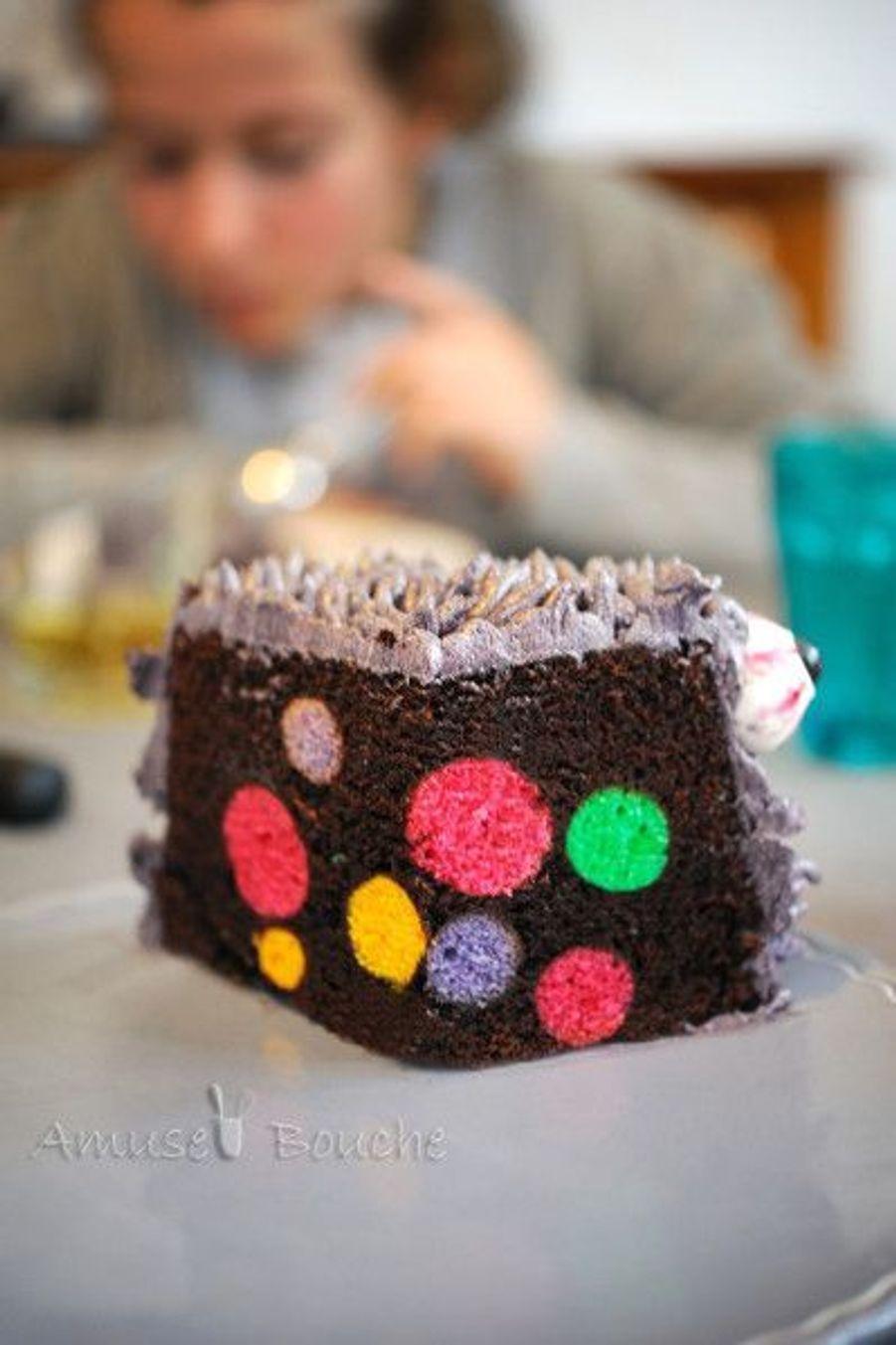 Le gâteau monstre https://www.pinterest.fr/pin/418623727832567403/