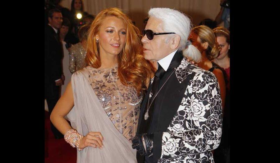 Blake Lively et Karl Lagerfeld