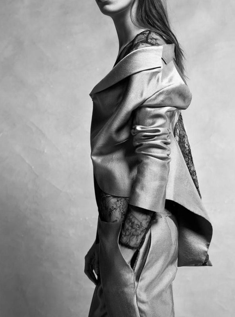 Combinaison en radzimir qui se porte indifféremment côté face ou dos. Couture hiver 2014, Collection Jumpsuits Maison Anne Valérie Hash