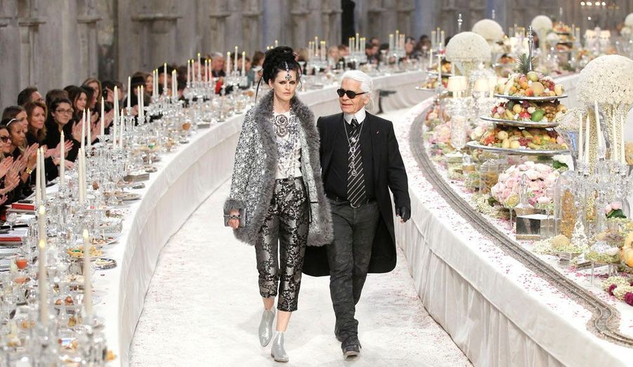 Stella Tennant et Karl Lagerfeld