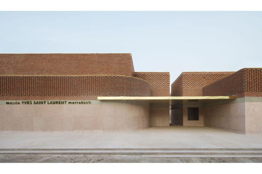 Façade du musée Yves Saint-Laurent Marrakech.