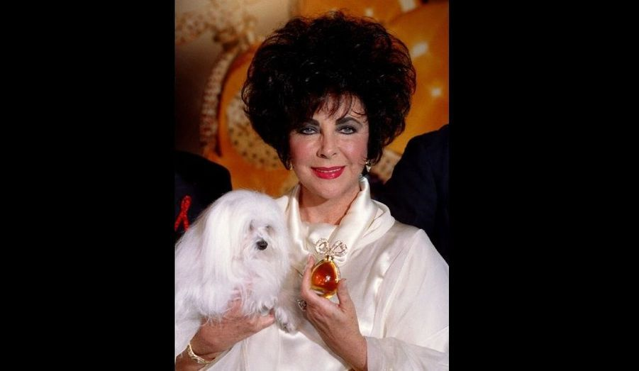 En 1997, Elisabeth Taylor posait avec son nouveau parfum Fragrant Jewel Collection à New-York. Son eau de toilette White Diamonds reste à ce jour le parfum de star qui s'est le plus vendu à travers le monde.