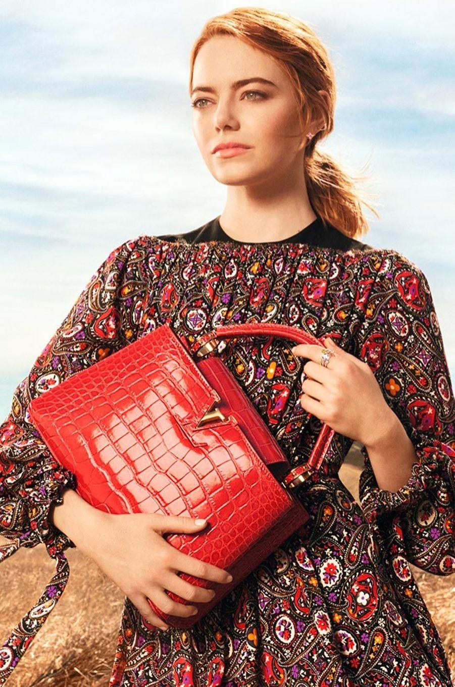 La campagne d'Emma Stone pour Louis Vuitton.