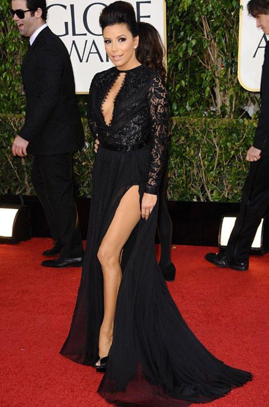 L'actrice Eva Longoria lors de la cérémonie des Golden Globes à Los Angeles, le 13 janvier 2013