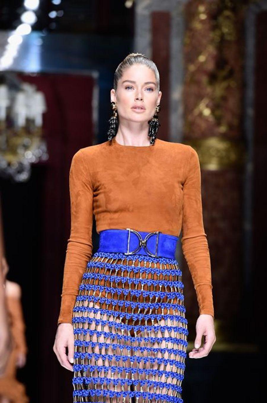 Balmain fait le plein de super models pour la Fashion week de Paris: Doutzen Kroes