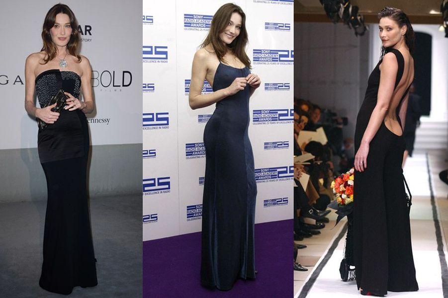 Carla Bruni-Sarkozy, 46 ans : elle a défilé pour Ralph Lauren, versace, Givenchy, Dior. Depuis 2013, elle est égérie du joaillier Bulgari