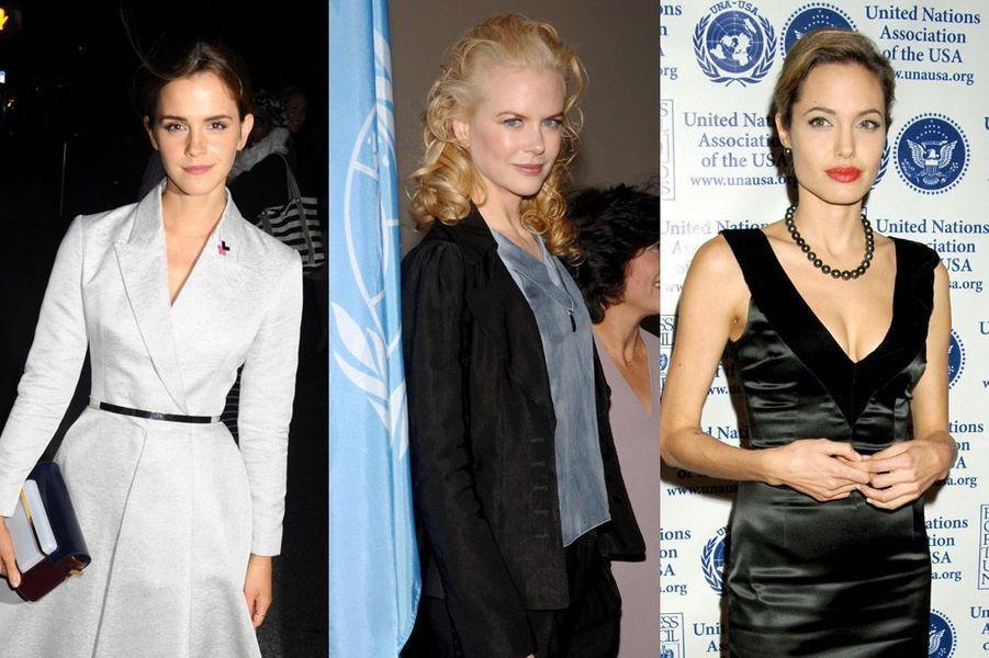 Les plus élégantes des stars engagées pour l'Onu