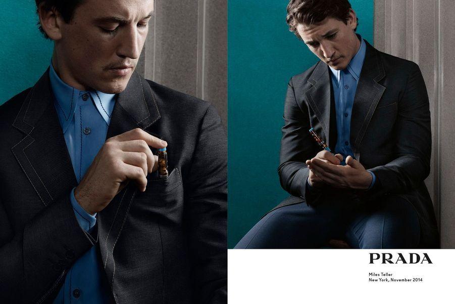 Miles Teller pour Prada Printemps-Eté 2015