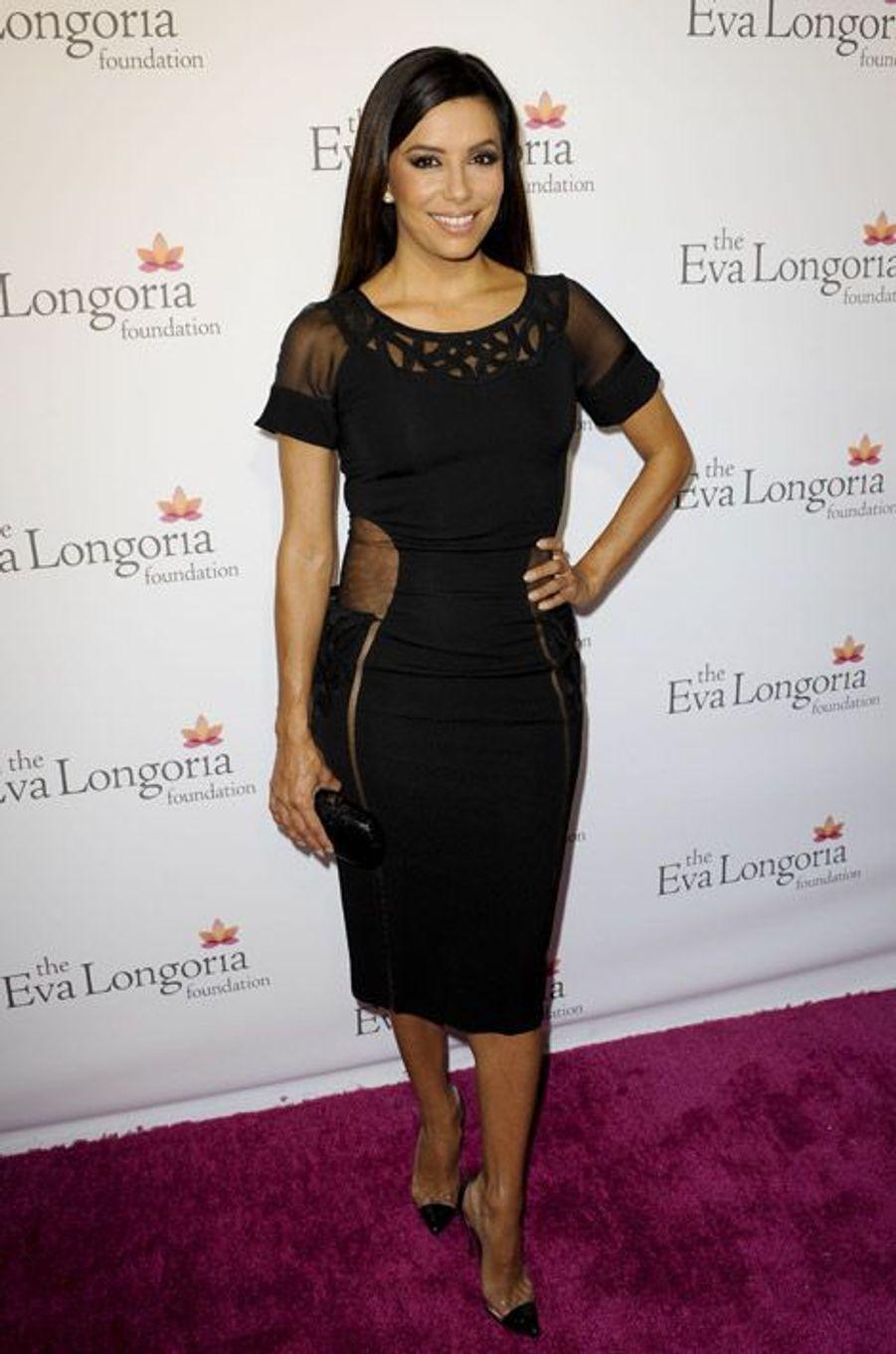 L'actrice américaine Eva Longoria lors du dîner organisé pour sa fondation en faveur de l'éducation et de l'entreprenariat pour les femmes latin...