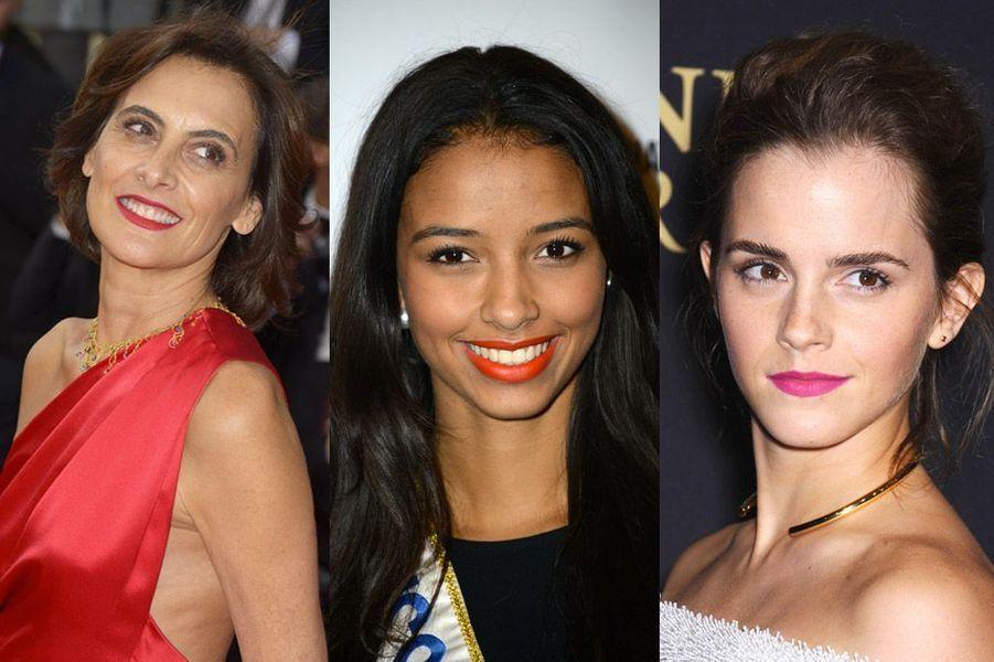Inès de la Fressange, Flora Coquerel, Emma Watson : les rouges à lèvres sexy des stars