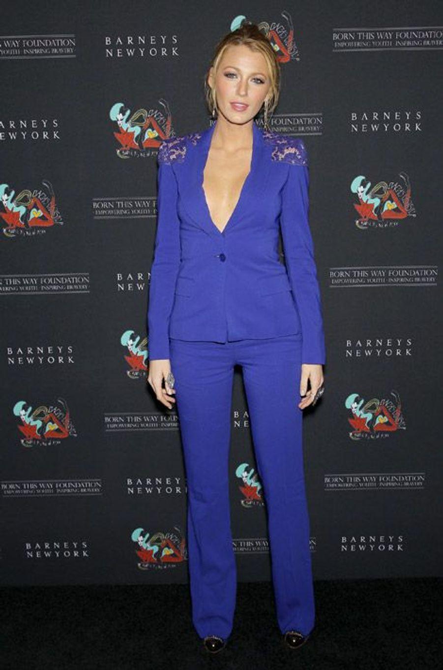 L'actrice Blake Lively lors d'une soirée à New York, le 21 novembre 2011