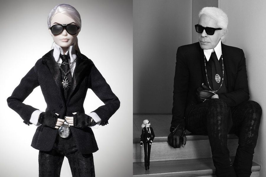Karl Lagerfeld s'offre une poupée Barbie à son effigie