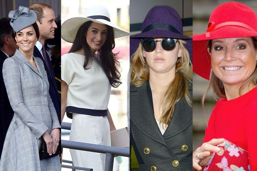 Kate Middleton, Amal Alamuddin, Jennifer Lawrence, Maxima des Pays-Bas : toutes les stars et leurs chapeaux pour passer l'hiver