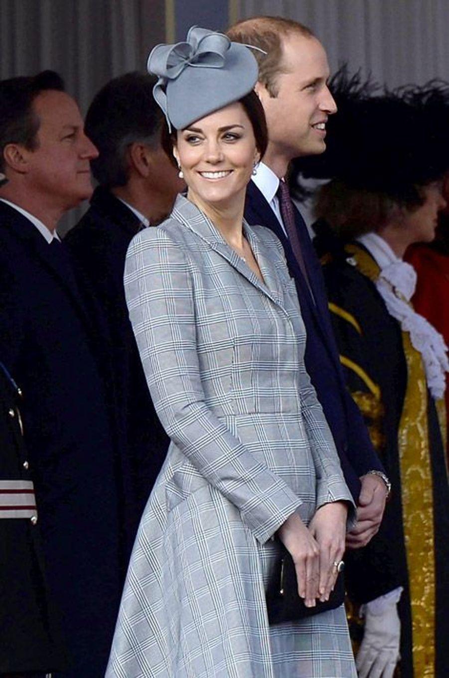 Kate Middleton lors de la visite du président de Singapour à Londres, le 21 octobre 2014