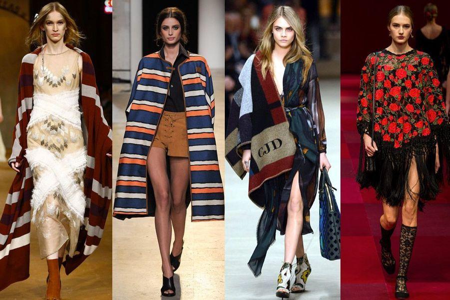 Le poncho: star des défilés Chanel, Paul and Joe, Burberry et Dolce & Gabbana