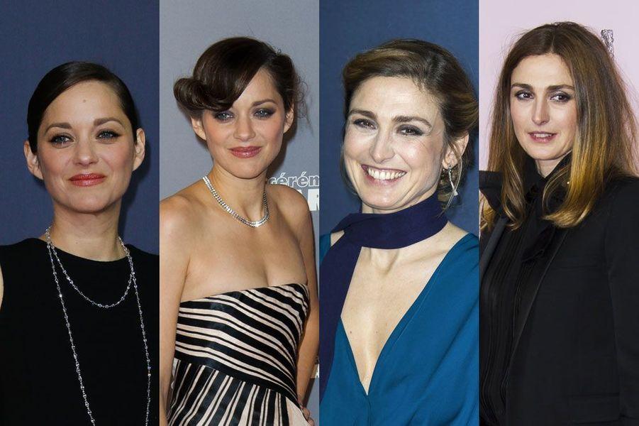 Marion Cotillard, Sandrine Kiberlain, Cécile de France, Julie Gayet : rétrospective des coiffures 2014 et 2015