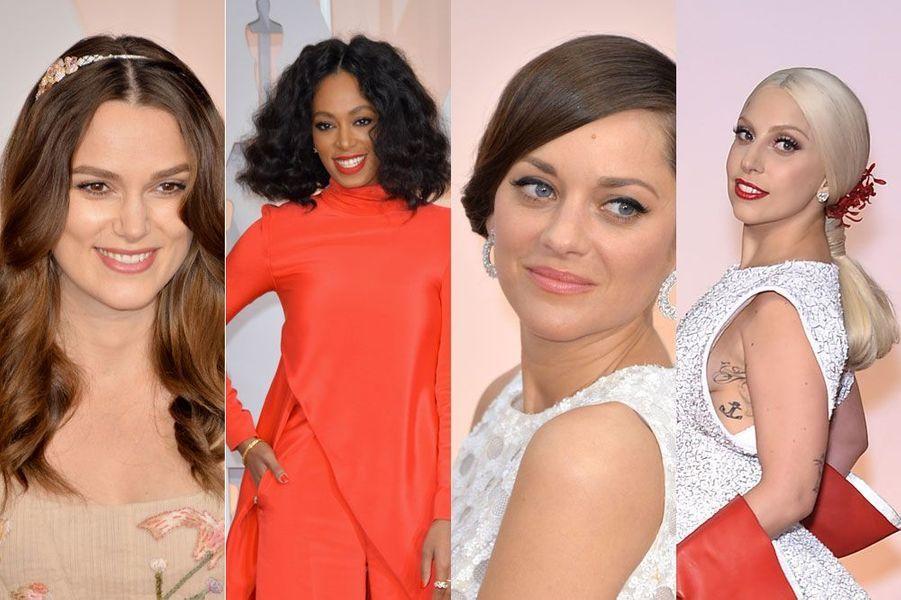 Marion Cotillard, Solange Knowles, Keira Knightley, Lady Gaga : les plus belles coiffures des Oscars 2015