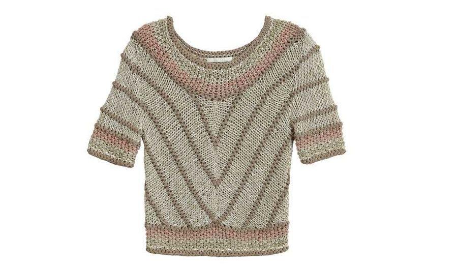 Pull en laine mélangée maille ajourée, Tequilla Solo, 165€
