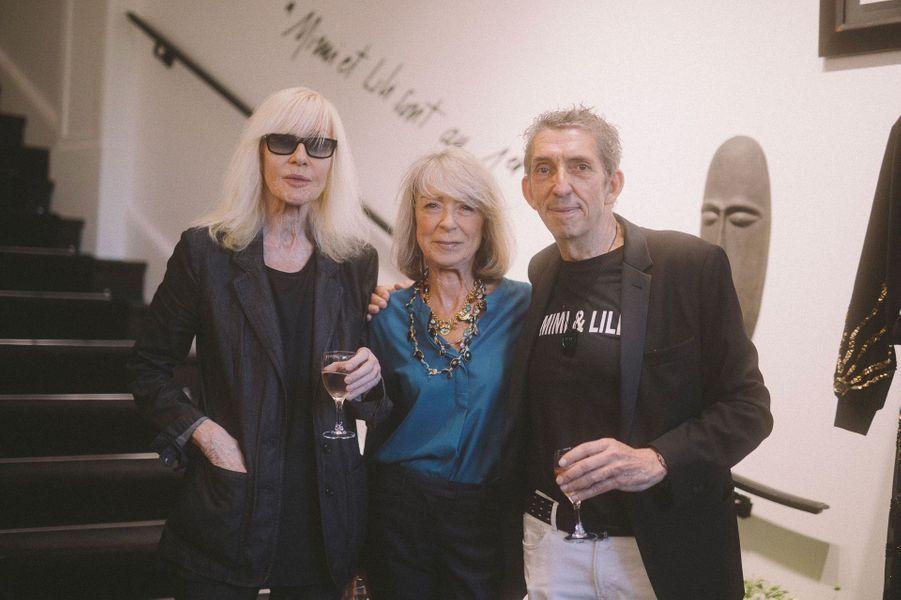 Betty Catroux et Michel Klein avec une amie