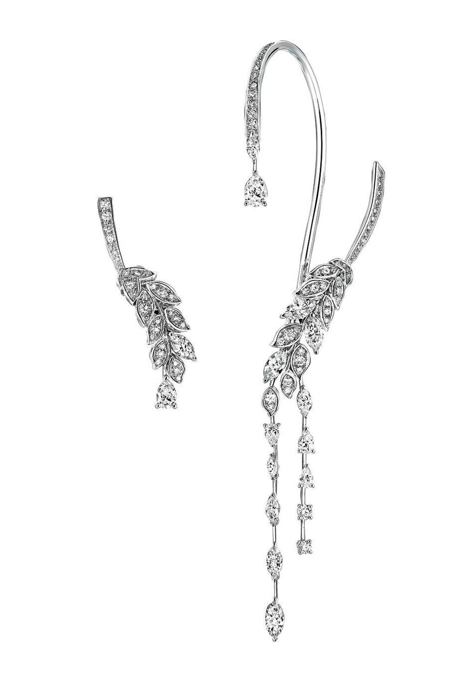 Chanel joaillerie Les Blés, Brins de Diamants en or blanc et diamants.