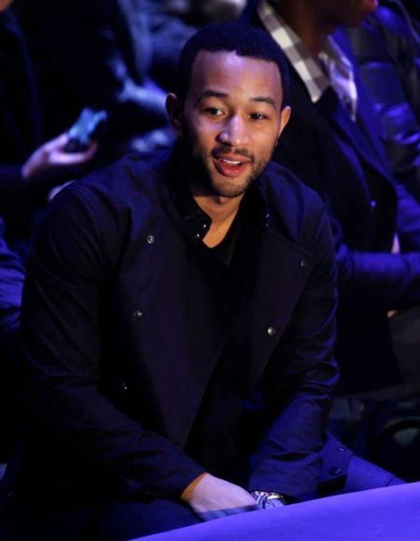 Le chanteur, pianiste et compositeur John Legend a été vu le 16 février au défilé G-Star.