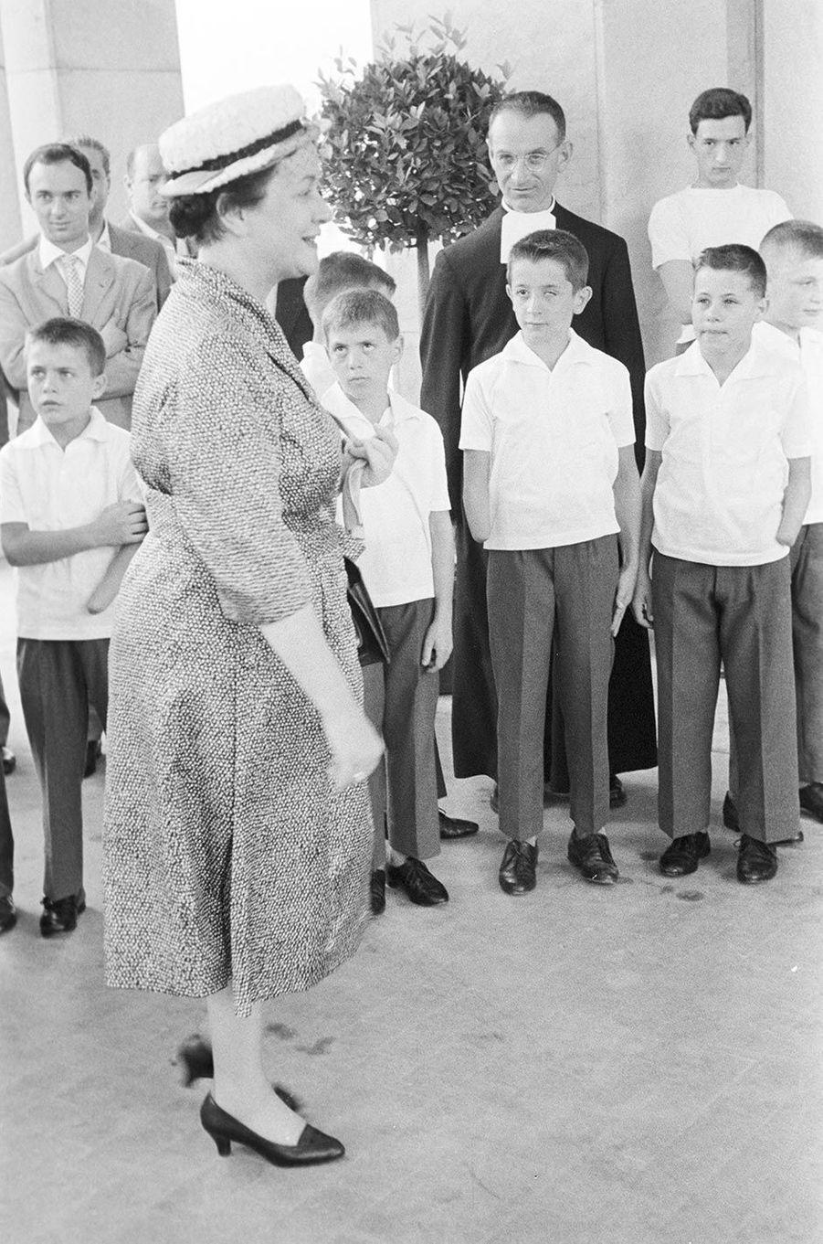 Yvonne de Gaulle, ici en juin 1959. La femme du général était affectueusement surnommée «tante Yvonne».