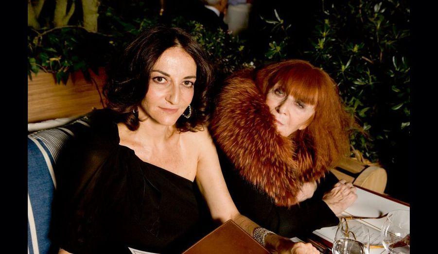Sonia et Nathalie Rykiel, ses «voisines» sur le boulevard Saint-Germain.