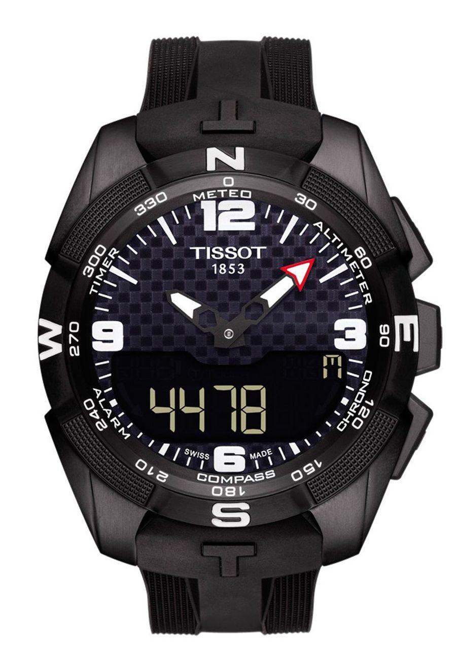 T-Touch Expert Solar, boîte en titane, mouvement solaire multifonctions à quartz, bracelet en caoutchouc, 995 €, Tissot.