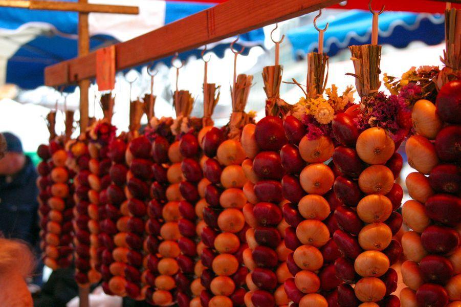 Le Zibelemärit (marché aux oignons) de Berne, Suisse.