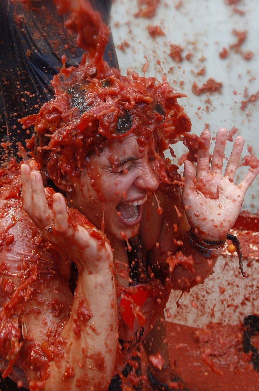 Le festival de la Tomatina a eu lieu ce mercredi 31 août àBuñol, près de Valence.