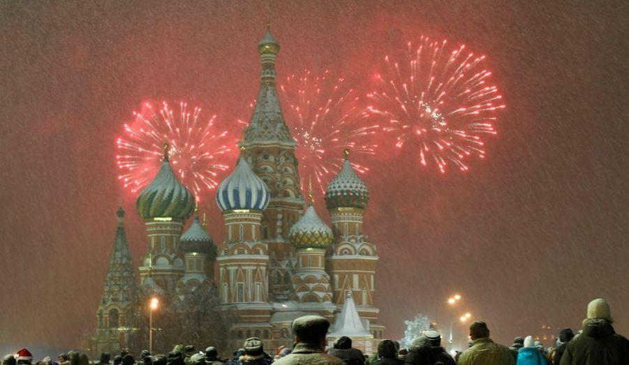 Moscou, cathédrale St Basile sur la place Rouge