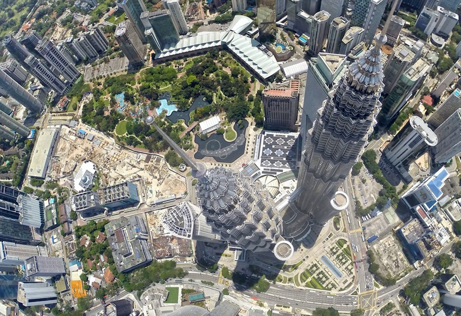 Petronas Tours jumelles, Kuala Lumpur, Malaisie