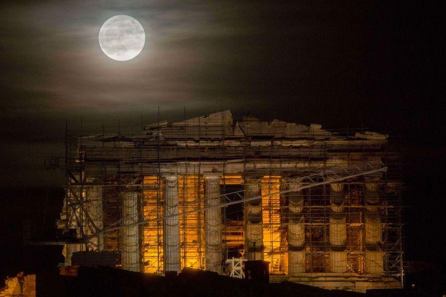 L'AthensWasHotel offre une vue sur l'Acropole d'Athènes.