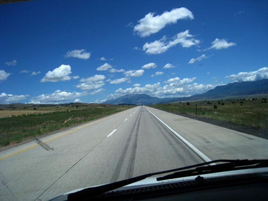 C'est l'étape la plus longue de notre voyage. Ce 3 juillet, nous avons parcouru 1000 km, traversé 4 états et franchi deux fuseaux horaires et on a aimé ça !