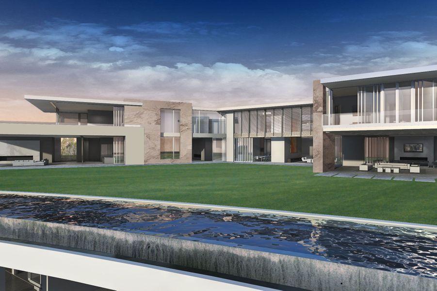Les Américains ont décidément le goût de la démesure. ALos Angeles, va bientôt être construite une propriété magnifique. Sur un terrain de 7000 mètres carrés dans le luxueux quartier de Bel Air, la maison possédera une immense pelouse synthétique, quatre piscines, une salle de cinéma privée, un salle de casino, un aquarium géant, une suite parentale de 500 mètres carrés…Imaginée par l'architectePaul McClean, le futur «palace moderne», comme il le décrit lui-même dans une interview accordéeau site Bloomberg, coûtera la bagatelle de 500 millions de dollars. La maison s'inscrit dans un projet immobilier plus vaste conçu par le producteur de films Nile Niami contenant deux autres bâtiments : une maison spécialement dédiée aux invités (500m2) et un immense garage pouvant accueillir une trentaine de voitures.Bien que modèle de démesure, la villa ne fait que talonner le prix de la plus chère des propriétés à vendre actuellement. La villa «La Fiorentina», à Saint-Jean-Cap-Ferrat (France), serait estimée à 525 millions de dollars pour «seulement» 2 500 m². On retrouve ensuite la Tour Odéon deMonacodont le prix est arrondi à 375 millions de dollars.