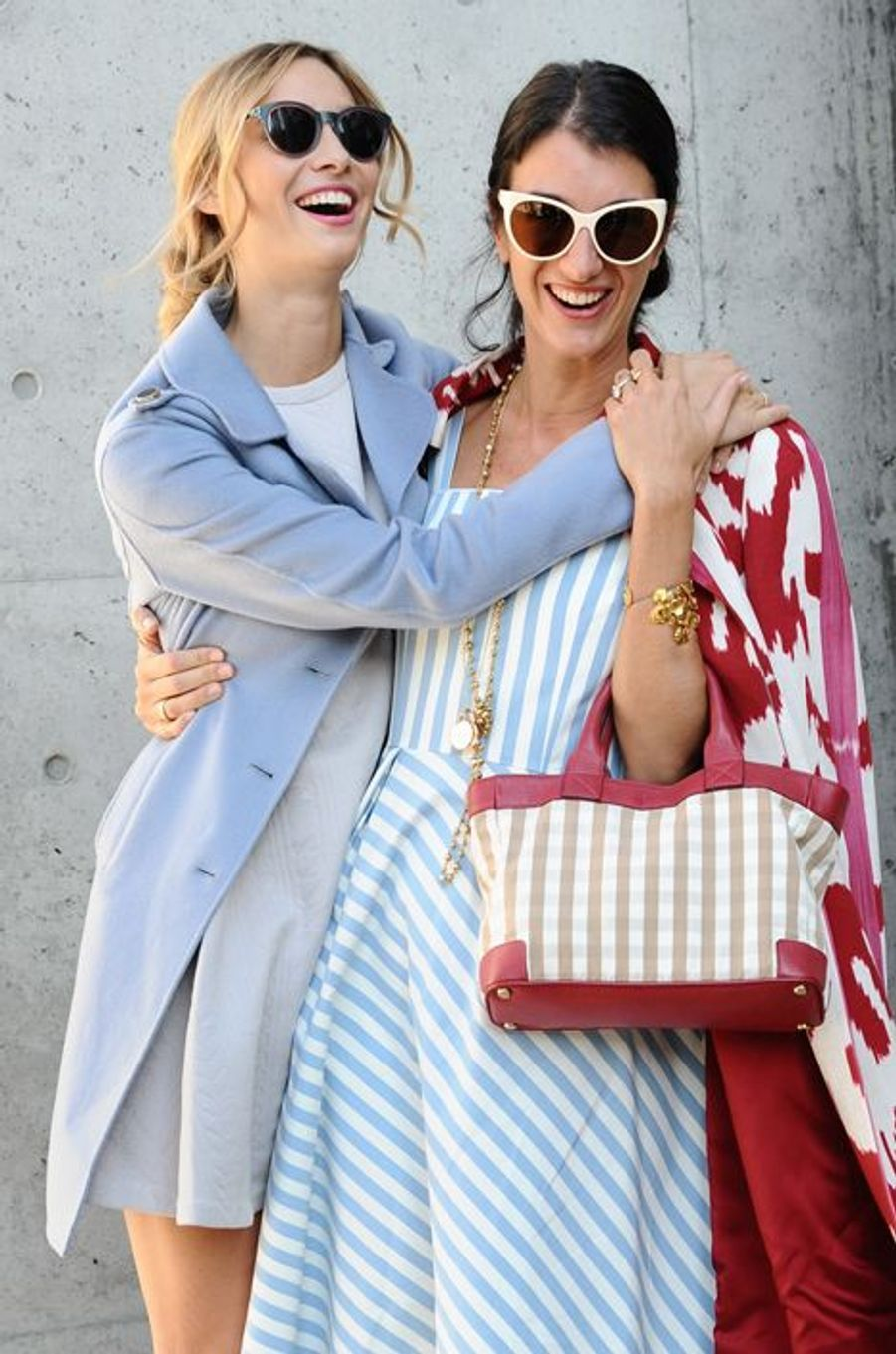 Beatrice Borromeo-Casiraghi avec Marta Ferri à la Fashion Week de Milan, le 25 septembre 2015