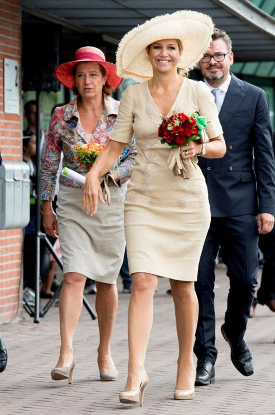 La reine Maxima des Pays-Bas à Amsterdam, le 29 août 2015