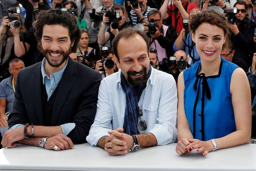 Tahar Rahim, Asghar Farhadi et Bérénice Bejo