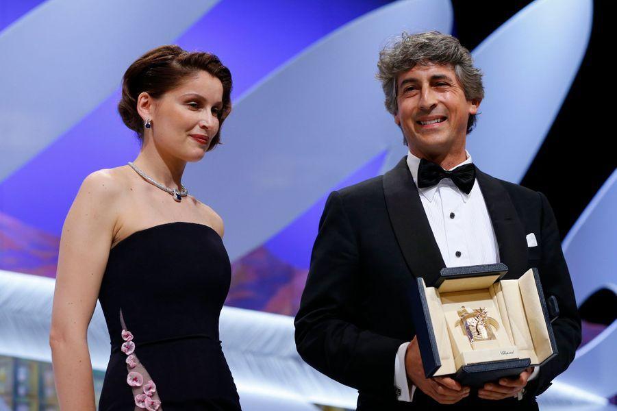 """Le réalisateur de """"Nebraska"""" est monté sur scène pour le prix obtenu par son acteur principal, Bruce Dern."""