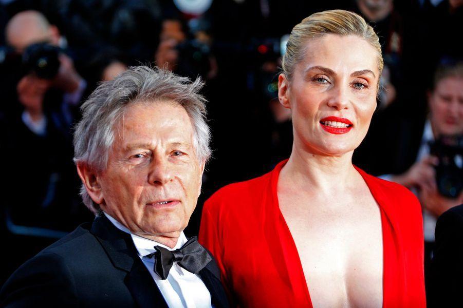 """Ce samedi soir, Roman Polanski et sa femme Emmanuelle Seigner étaient à l'honneur pour la montée des marches de """"La Vénus à la fourrure""""."""